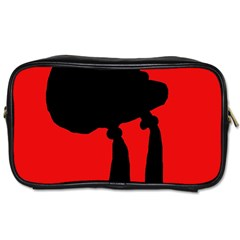 Red and black abstraction Toiletries Bags