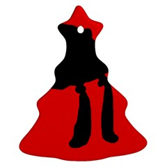 Red and black abstraction Christmas Tree Ornament (2 Sides)