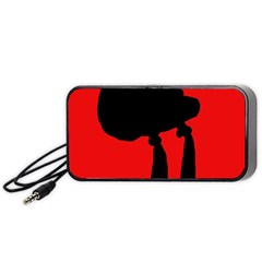 Red and black abstraction Portable Speaker (Black)