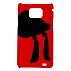 Red and black abstraction Samsung Galaxy S2 i9100 Hardshell Case