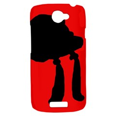 Red and black abstraction HTC One S Hardshell Case
