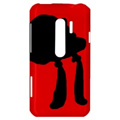 Red and black abstraction HTC Evo 3D Hardshell Case