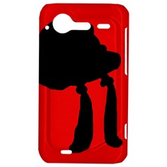 Red and black abstraction HTC Incredible S Hardshell Case