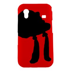 Red and black abstraction Samsung Galaxy Ace S5830 Hardshell Case