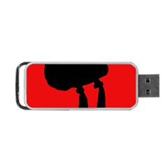 Red and black abstraction Portable USB Flash (One Side)