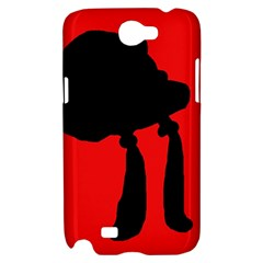 Red and black abstraction Samsung Galaxy Note 2 Hardshell Case