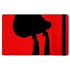 Red and black abstraction Apple iPad 3/4 Flip Case