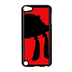 Red and black abstraction Apple iPod Touch 5 Case (Black)