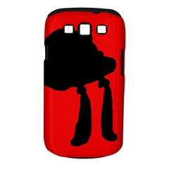 Red and black abstraction Samsung Galaxy S III Classic Hardshell Case (PC+Silicone)