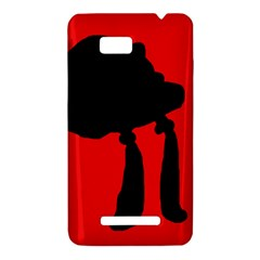 Red and black abstraction HTC One SU T528W Hardshell Case