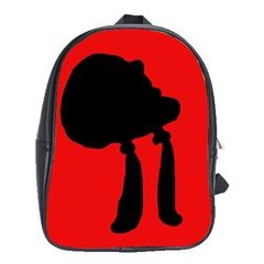 Red and black abstraction School Bags (XL)