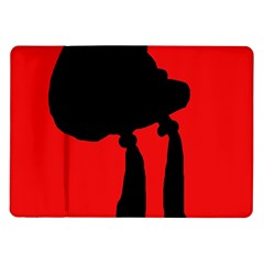 Red and black abstraction Samsung Galaxy Tab 10.1  P7500 Flip Case