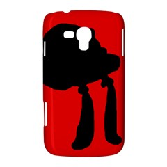 Red and black abstraction Samsung Galaxy Duos I8262 Hardshell Case