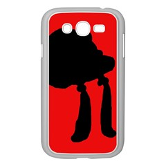 Red and black abstraction Samsung Galaxy Grand DUOS I9082 Case (White)