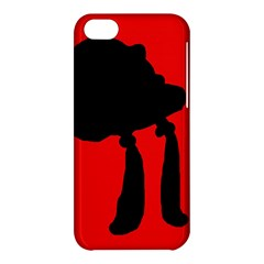 Red and black abstraction Apple iPhone 5C Hardshell Case