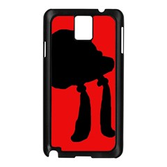 Red and black abstraction Samsung Galaxy Note 3 N9005 Case (Black)