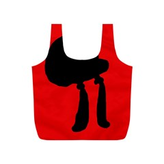 Red and black abstraction Full Print Recycle Bags (S)