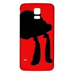 Red and black abstraction Samsung Galaxy S5 Back Case (White)