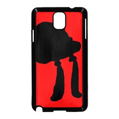Red and black abstraction Samsung Galaxy Note 3 Neo Hardshell Case (Black)