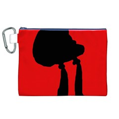 Red and black abstraction Canvas Cosmetic Bag (XL)