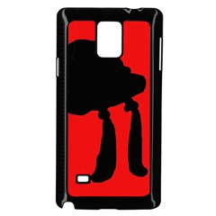Red and black abstraction Samsung Galaxy Note 4 Case (Black)