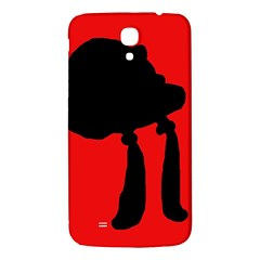 Red and black abstraction Samsung Galaxy Mega I9200 Hardshell Back Case