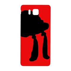 Red and black abstraction Samsung Galaxy Alpha Hardshell Back Case