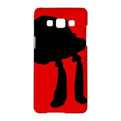 Red and black abstraction Samsung Galaxy A5 Hardshell Case