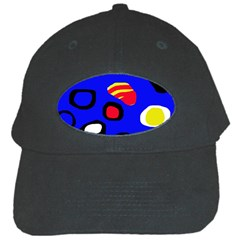 Blue pattern abstraction Black Cap