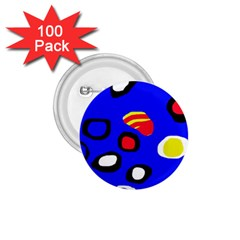 Blue pattern abstraction 1.75  Buttons (100 pack)