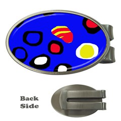 Blue Pattern Abstraction Money Clips (oval)