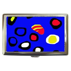 Blue pattern abstraction Cigarette Money Cases