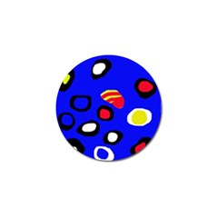 Blue pattern abstraction Golf Ball Marker (4 pack)