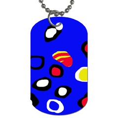 Blue pattern abstraction Dog Tag (Two Sides)