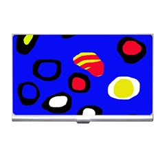 Blue pattern abstraction Business Card Holders
