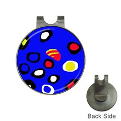 Blue pattern abstraction Hat Clips with Golf Markers