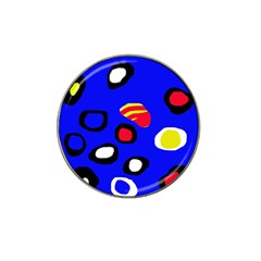 Blue pattern abstraction Hat Clip Ball Marker