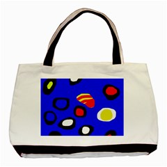 Blue pattern abstraction Basic Tote Bag