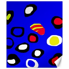 Blue pattern abstraction Canvas 8  x 10