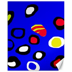 Blue pattern abstraction Canvas 16  x 20