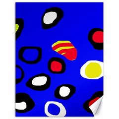 Blue pattern abstraction Canvas 18  x 24