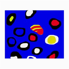 Blue pattern abstraction Small Glasses Cloth (2-Side)