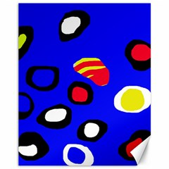 Blue pattern abstraction Canvas 11  x 14
