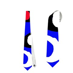 Blue pattern abstraction Neckties (One Side)