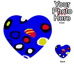 Blue pattern abstraction Multi-purpose Cards (Heart)