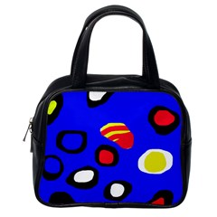 Blue pattern abstraction Classic Handbags (One Side)
