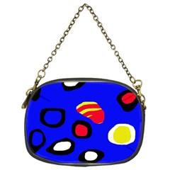 Blue pattern abstraction Chain Purses (One Side)