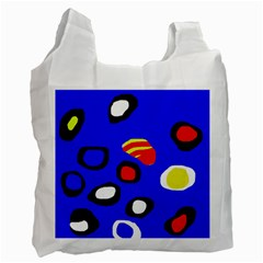 Blue pattern abstraction Recycle Bag (Two Side)
