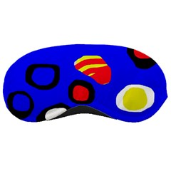 Blue pattern abstraction Sleeping Masks