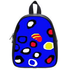 Blue pattern abstraction School Bags (Small)